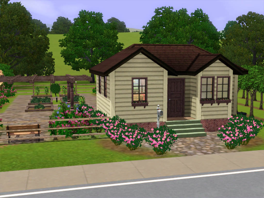 Mod the sims small farm house with huge harvestable garden under 16k