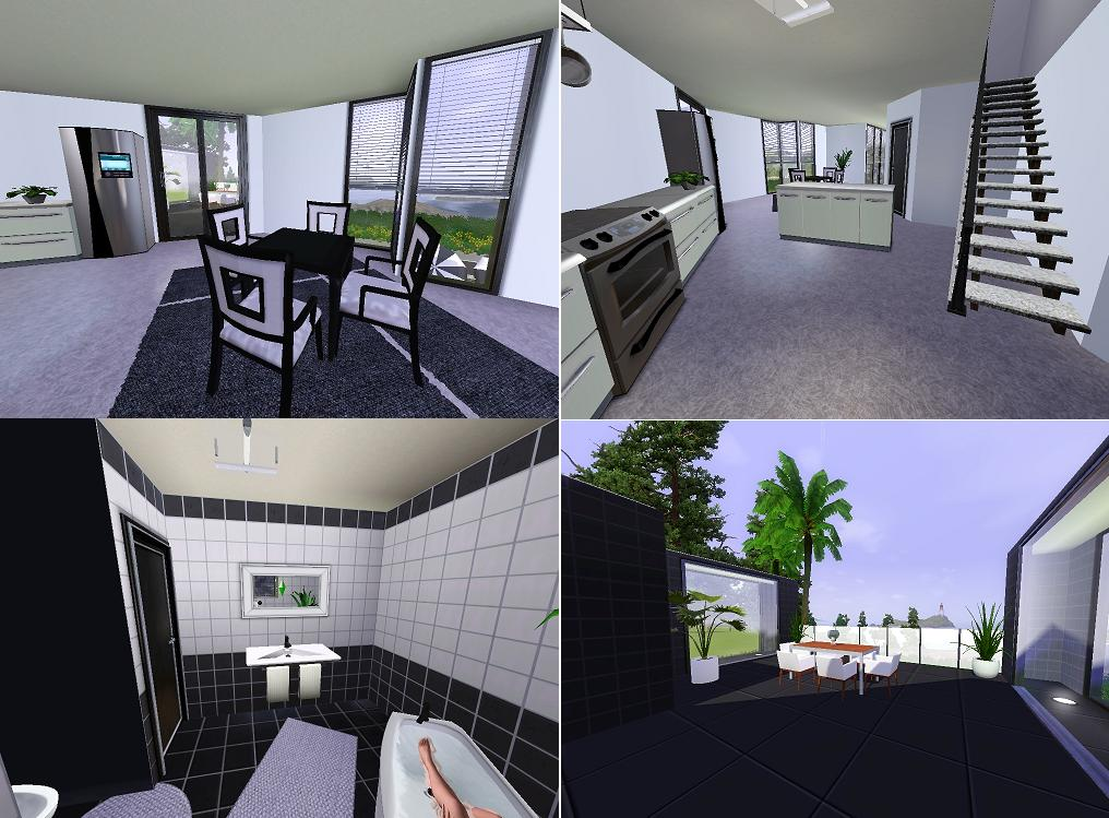 Mod the sims ozonemania inspired modern home for Sims interior designs 1
