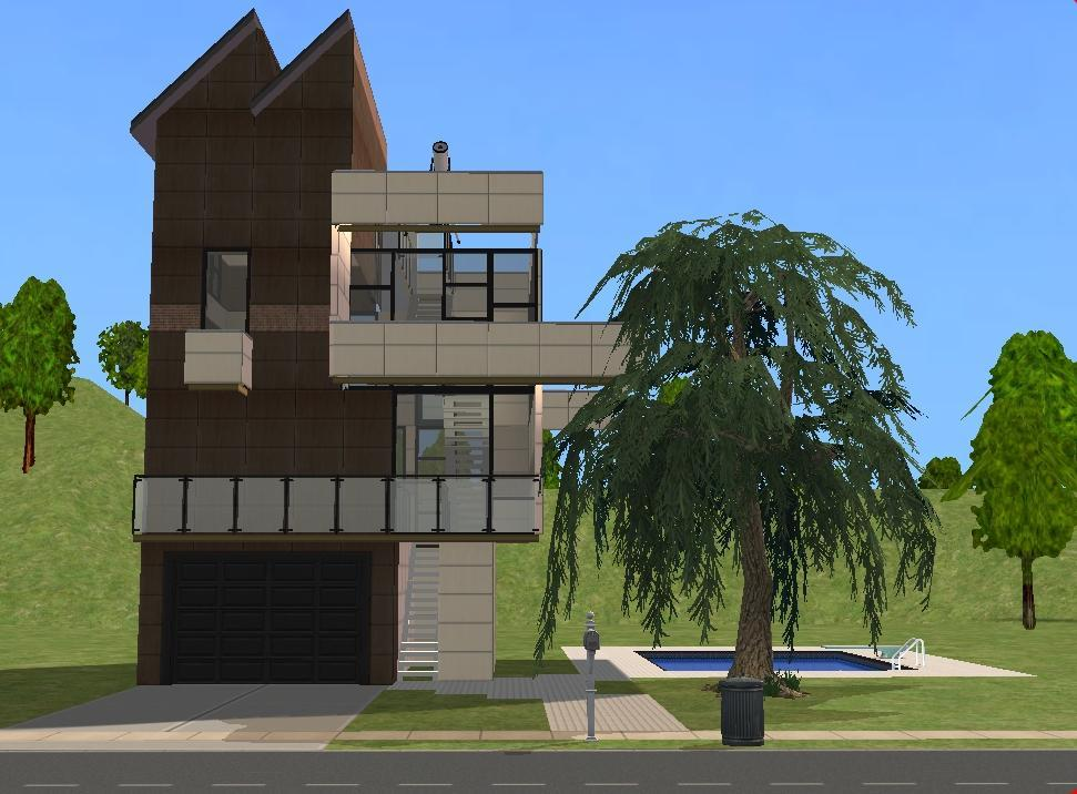 Mod The Sims Ultra Modern House Based On Predicted