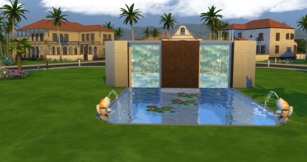 Mod the sims can the waterfall for the pool to be modified for Pool design sims 3