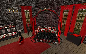 Mod The Sims Gothic Princess Nursery And Child Teen Room