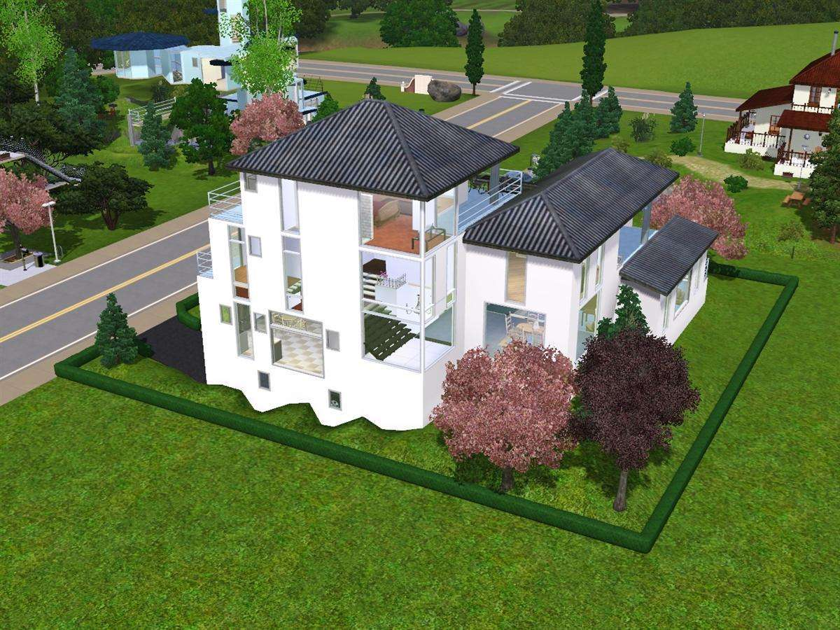 Mod the sims stairmania multilevel house for Classic underground house