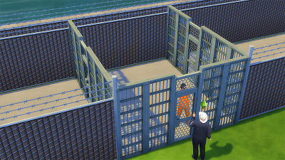 Mod The Sims The Sims 4 Prison Set Working Jail Doors