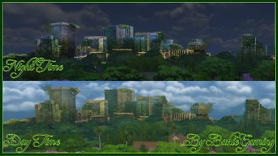 Mod The Sims - Overgrown City Skyline Replacement