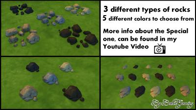 Mod The Sims - 3 Unlocked+Recolored Get Together Rocks