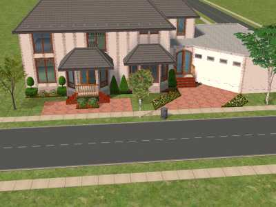 Mod The Sims English Style 2 Story With Attached Garage