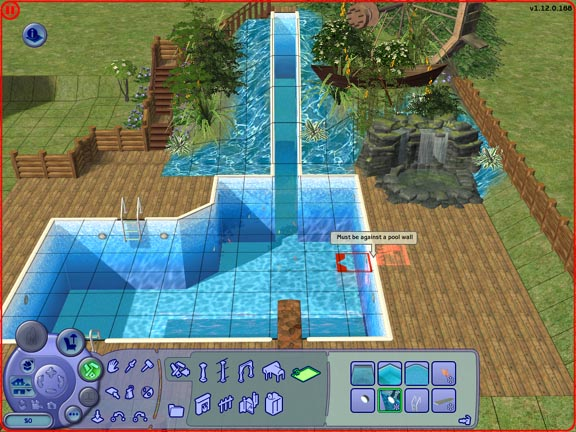 Mod the sims artisitic habitats pool walls help for Pool design sims 3