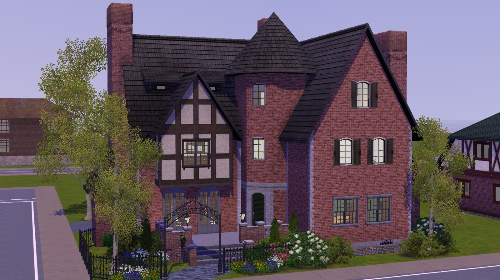Mod the sims 20x20 tudor revival to upload or not to for 20x20 house