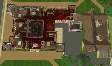 how to get corner floor sims 2