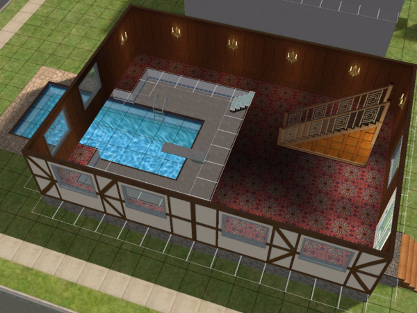 Mod the sims making and indoor outdoor pool for Pool design sims 3
