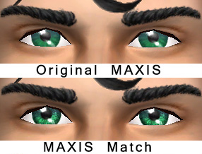Mod The Sims - DEFAULT Maxis Match eyes