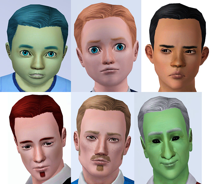 Mod The Sims Short Pulled Back Hair For Men Of All Ages