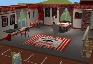 Mod The Sims Detroit Redwings Hockey Bedroom For