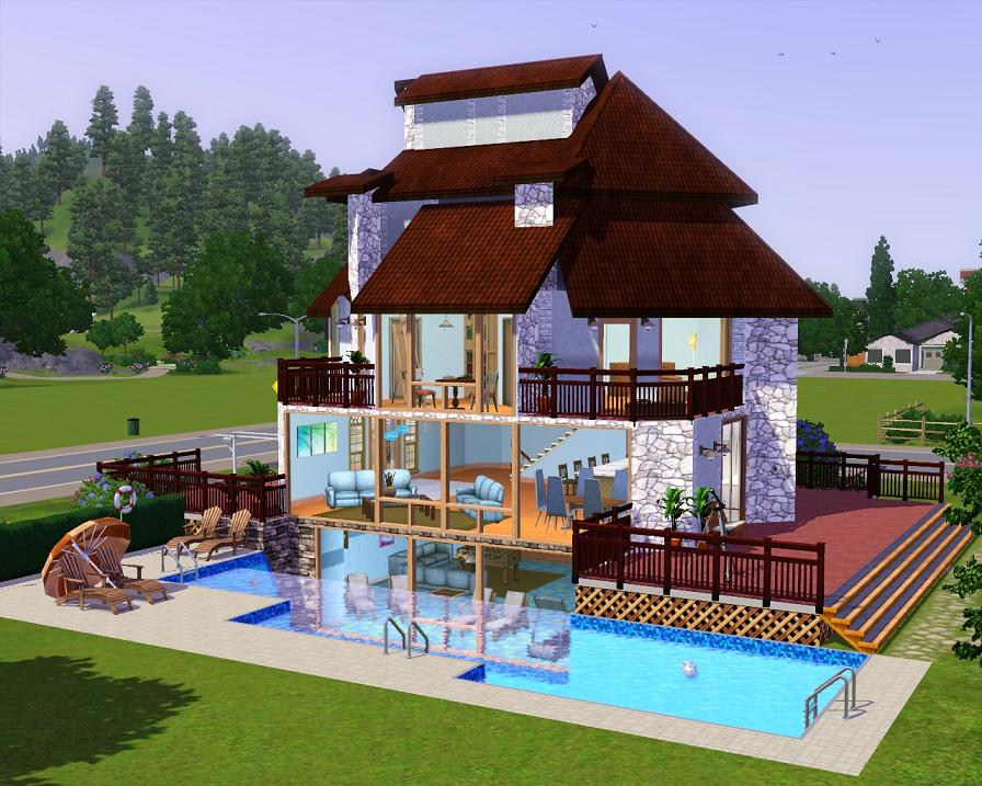 Mod the sims the greystoneriver villa for Basement swimming pool cost