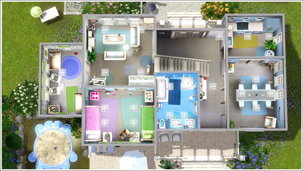 Mod the sims cosy family home 17 sweetwater loop for Sims 4 house plans