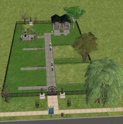 Mod The Sims Serenity Memorial Garden Cemetary For Sims Their Pets