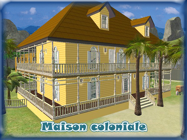 Mod The Sims Colonial House Typical House Of Guadeloupe