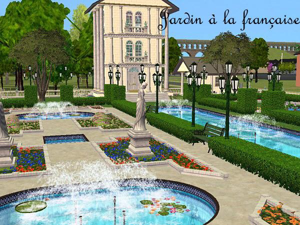 Mod the sims public garden jardin la fran aise for Jardin a la francaise