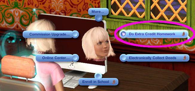 Sims 3 homework help