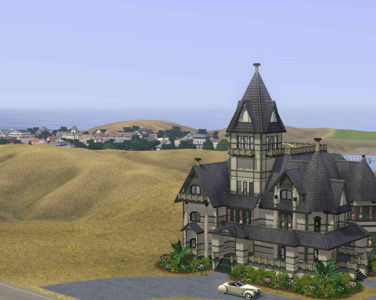 Mod the sims carson mansion for The carson