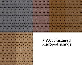 Mod The Sims Wood Textured Scalloped Siding Updated
