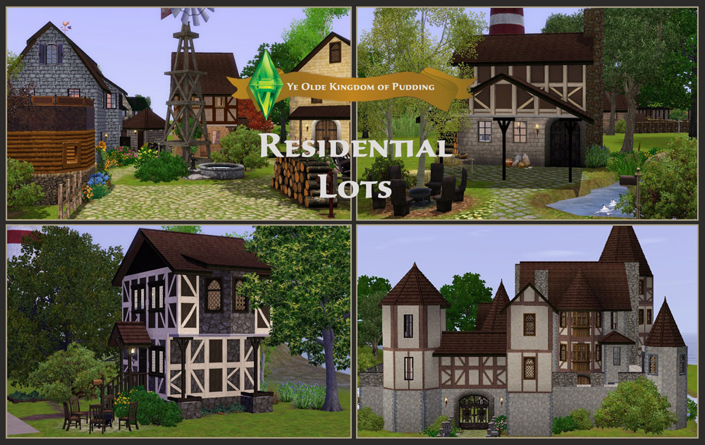 Mod The Sims Medieval Residential Lots Ye Olde Kingdom