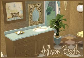 Allison Bath (Maxis Recolours)