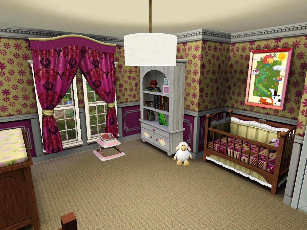Mod the sims 4 bed bungalow for Sims 4 bedroom ideas