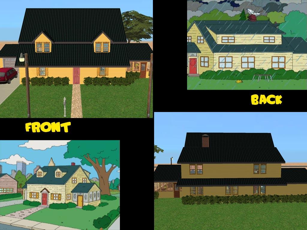 ... Inside Family Guy Spooner Street Family Guy House Layout Minecraft