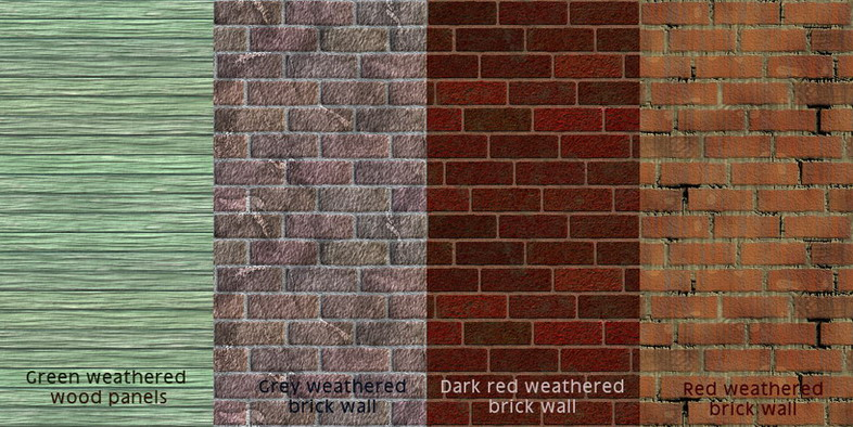 Mod The Sims Weathered Walls For Realistic Used