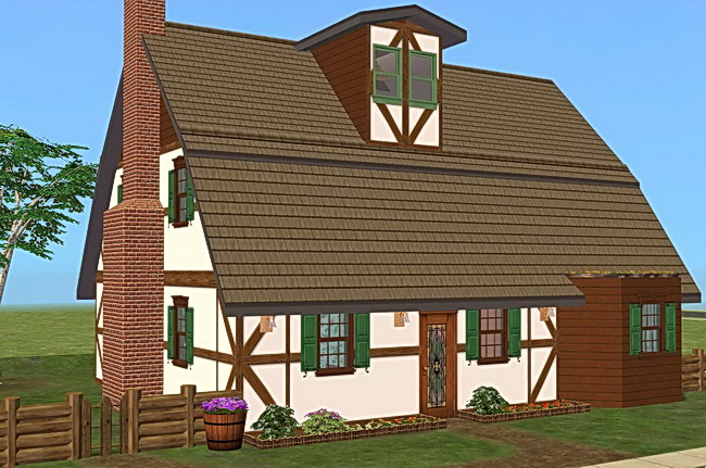 Mod The Sims Mountain Drive 1 German Cottage