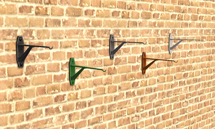 Mod The Sims Hanging Flower Wall Bracket
