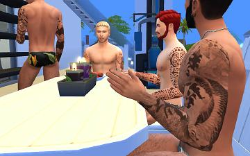 bf694595e Mod The Sims - Tattoos full sleeves, four styles