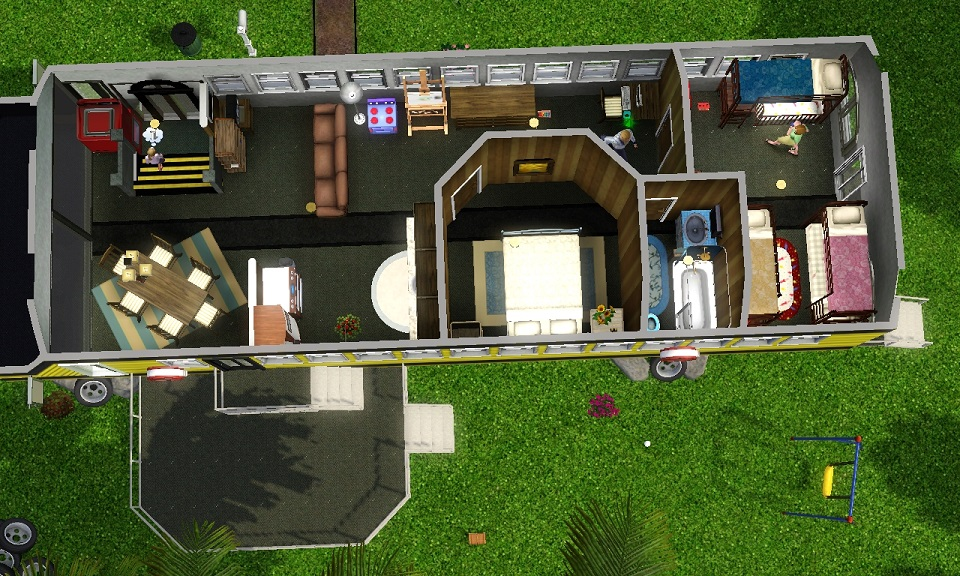 Mod The Sims Life Inside A School Bus And New Tiny House