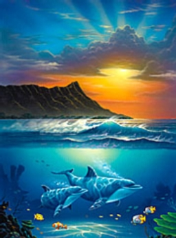 Mod The Sims - Dolphin Famous Dolphin Painting