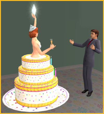 Candles On Birthday Cake Sims