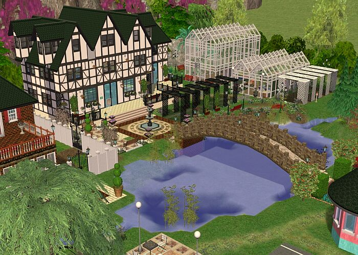 Mod The Sims - Exclusive Lot: Cheshire Botanical Gardens