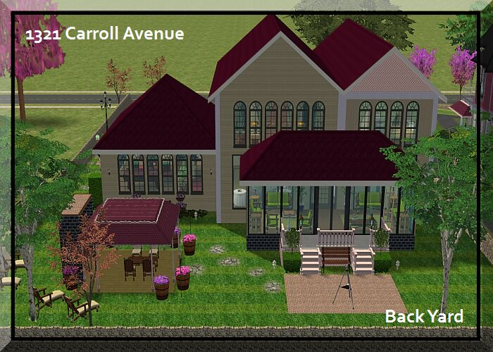 Mod The Sims  Charmed Again: Halliwell Neighbor 2 - Covered Porch Pictures