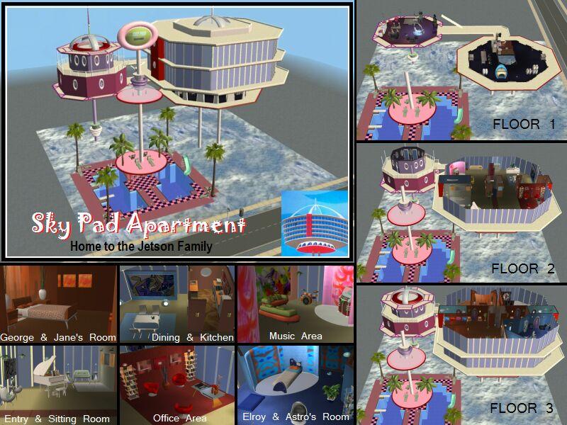 Mod The Sims The Jetsons Neighborhood 7 Lots
