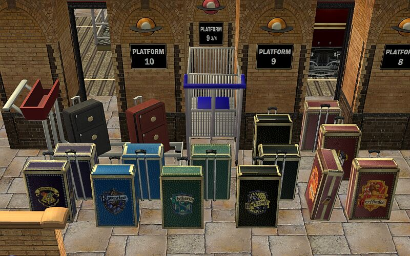 Mod The Sims Harry Potter Travel Trunks Decorative And Functional