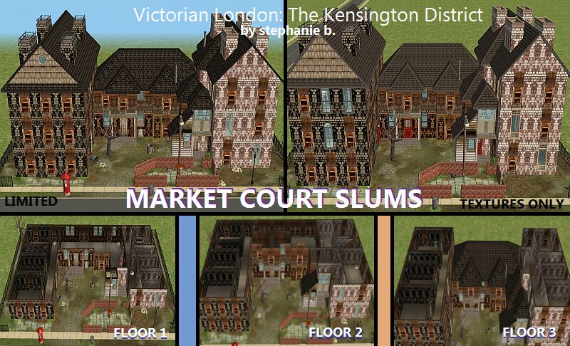 Mod The Sims Victorian London Part 2 The Kensington District No Cc Limited Cc And Cc Loaded