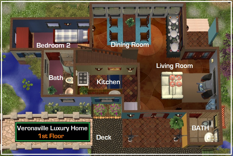 Sims 2 mansions floor plans for Sims 2 house designs floor plans