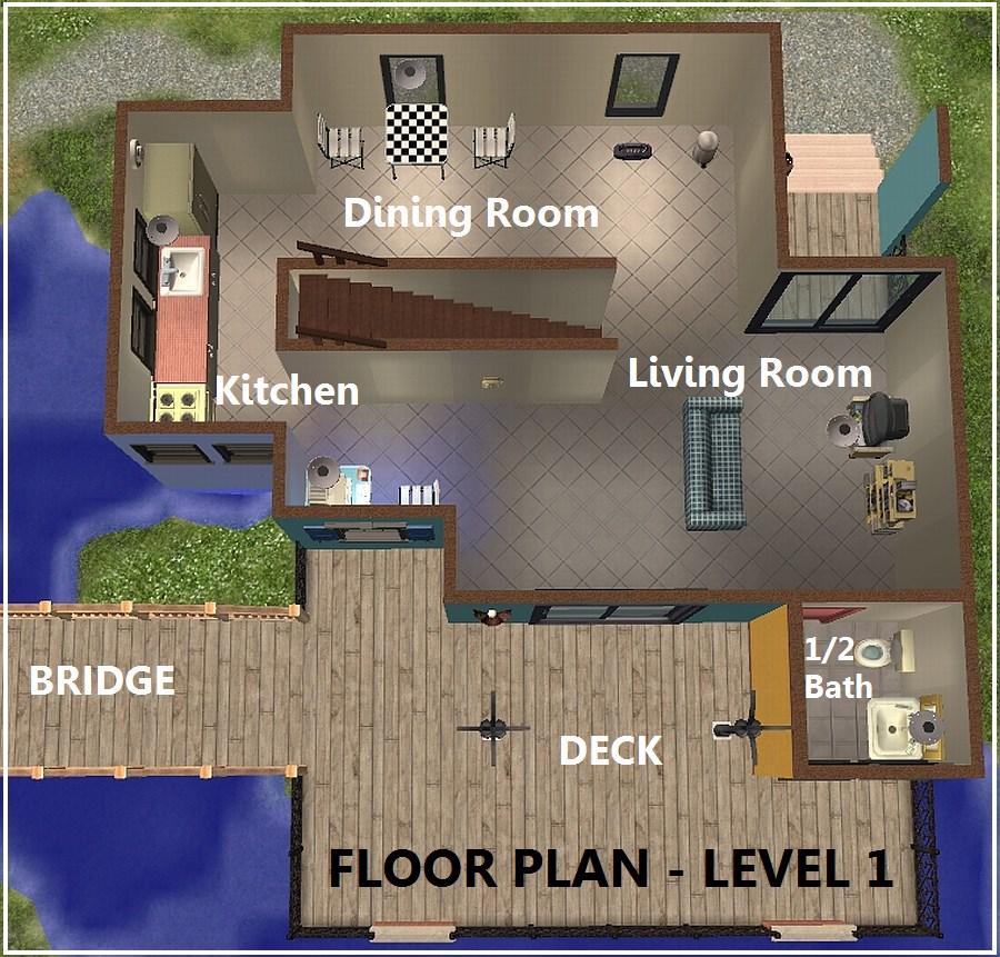 Sims 3 starter home floor plans for Sims 2 floor plans