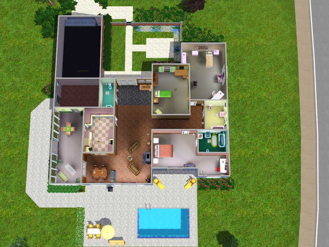 1950 Style Homes mod the sims - 1950's style family home