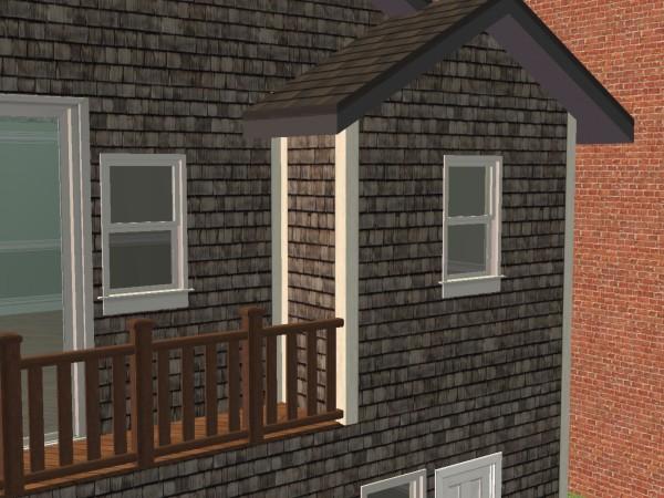 Mod The Sims Trim Added Wood Shingle Siding