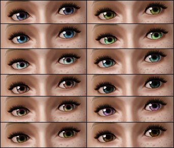... eye colors to show how they look with different tints and shades