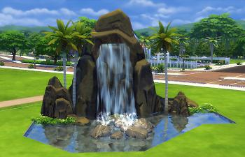 Mod The Sims Pinnacle Rock And Waterfall