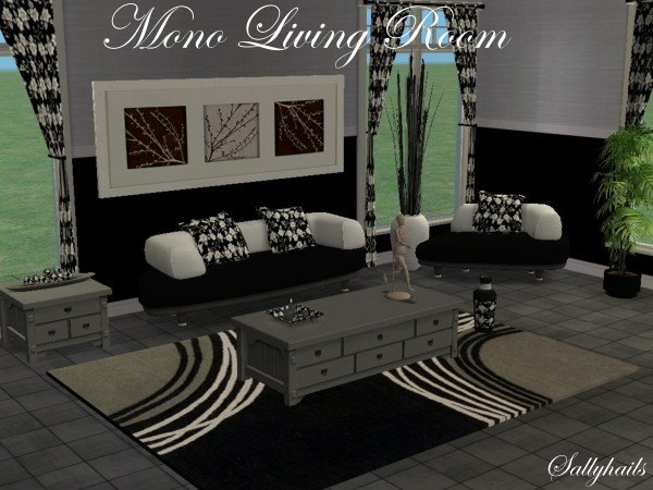 Mod the sims mono living room for Living room ideas sims 3