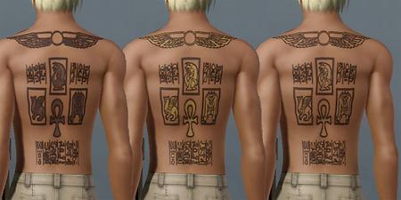 Mod the sims marik ishtar 39 s tombkeeper tattoo from yugioh for Marik ishtar tattoo