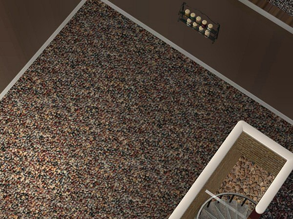 Mod the sims 4 berber carpets from the mcalli real for Black and white berber carpet